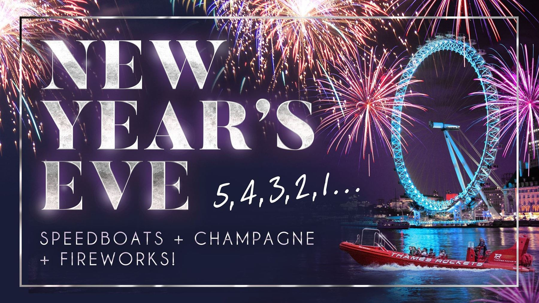 New Year's Eve speedboat sailings on the river Thames 2019