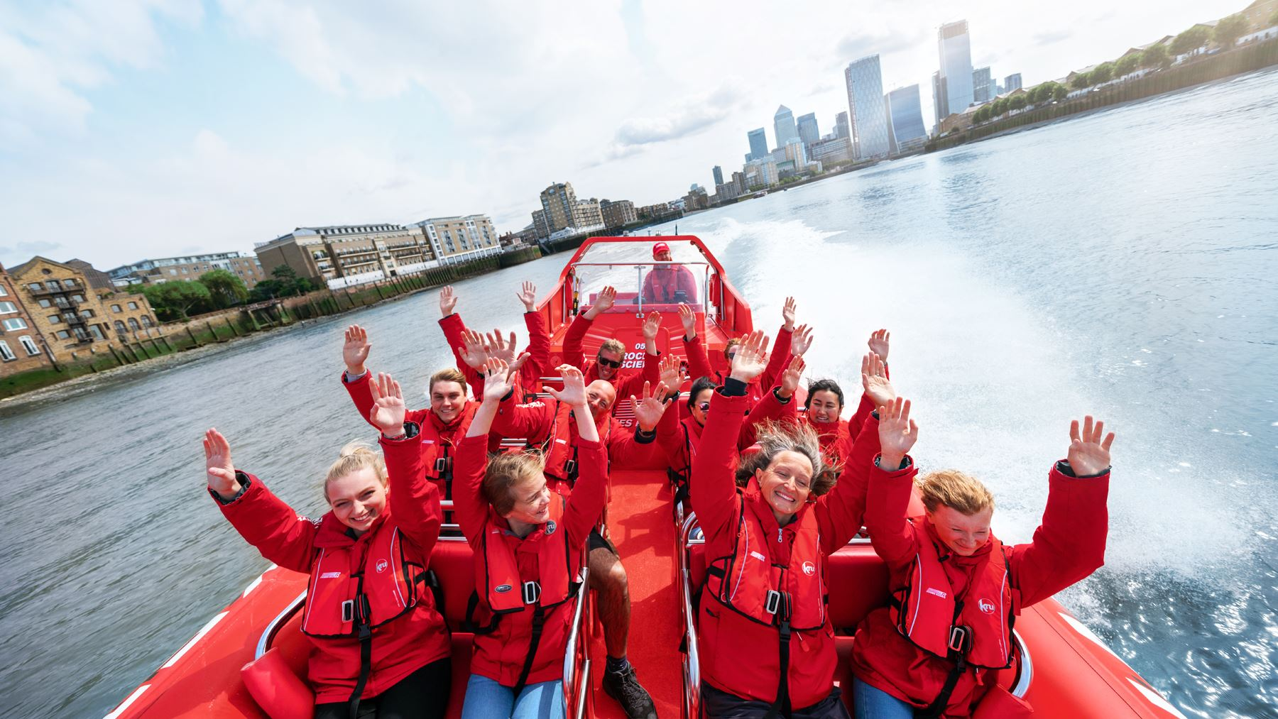 London's biggest Thames speedboat adventure sale