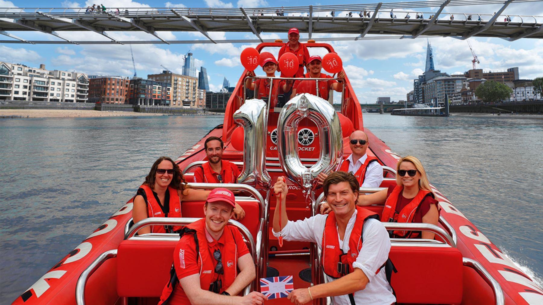 Celebrations for London Speedboat Sightseeing!